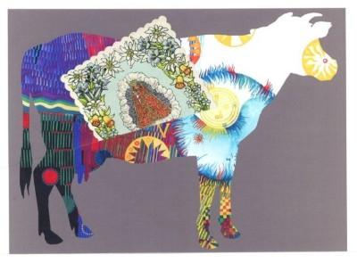 Herbert Bauer, Die scheinheilige Kuh, 2011, mixed media