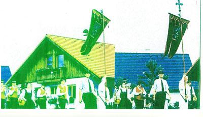 Anne Beck, Fronleichnamsfest, (Fotokopie des Originalfotos)