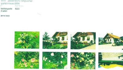 Anne Beck , Heimathaus, (Fotokopie der Originalfotos)