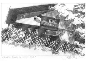 Herbert Bauer, Schule Seewigtal, Bleistift auf Papier
